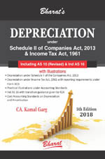 DEPRECIATION under Schedule II of Companies Act, 2013 & Income Tax Act, 1961 [including Accounting Standard 10 (Revised) and Ind AS 16]
